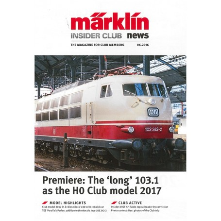 Märklin INS62016 Märklin Insider 06/2016