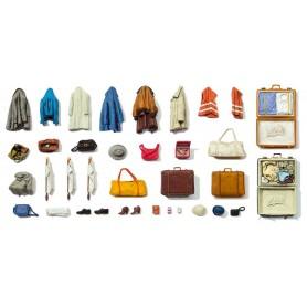Preiser 65811 Resväskor, kläder och skor