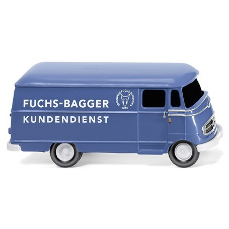 "Wiking 26503 Van (MB L 319) ""Fuchs-Bagger Kundendienst"""