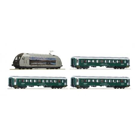 """Roco 61452 Tågset med Ellok El18 och 3 resgodsvagnar """"NSB"""""""