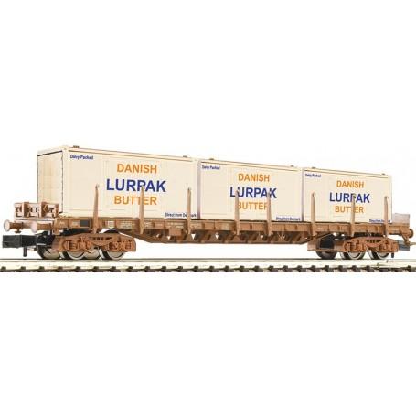 """Fleischmann 826807 Stolpvagn Rs typ DSB med last av lådor """"LURPAK"""""""