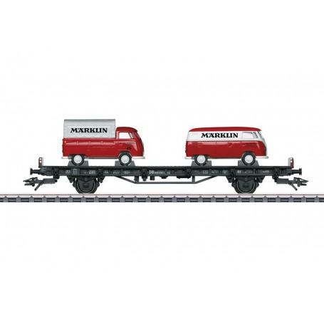 """Märklin 45083 Biltransportvagn typ DB med last av 2 VW type 1 """"Märklin"""""""
