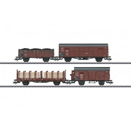 Märklin 46065 Vagnsset med 4 godsvagnar typ DRG