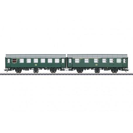 Märklin 43173 Vagnsset med 2 personvagnar typ DB, med innerbelysning
