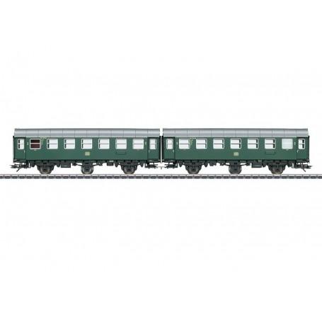 Märklin 43183 Vagnsset med 2 personvagnar typ DB, med innerbelysning