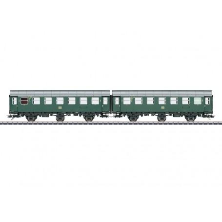 Märklin 43184 Vagnsset med 2 personvagnar typ DB, med innerbelysning