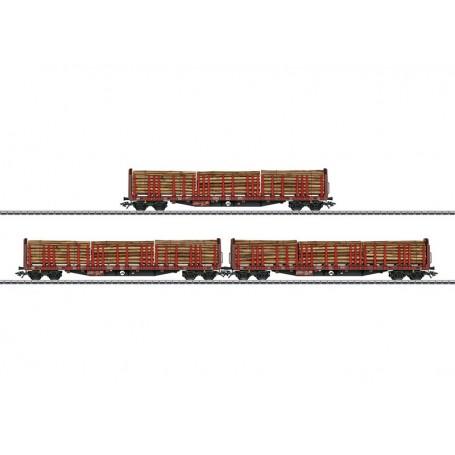 Märklin 47047 Vagnsset med 3 stolpvagnar Roos 639 typ DB AG