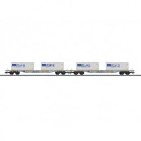 """Märklin 47096 Vagnsset med 2 containervagnar typ SBB/CFF/FFS """"SBB Cargo"""""""