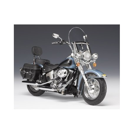 Ertl 81048 Motorcykel Harley Davidson FLSTC Heritage Softail Classic Suede Blue Pearl/Vivid Black