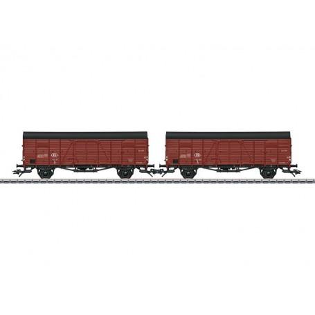 Märklin 46383 Vagnsset med 2 godsvagnar Glm typ SNCB/NMBS