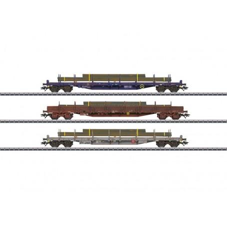 Märklin 47050 Vagnsset med 3 stolpvagnar typ CFL