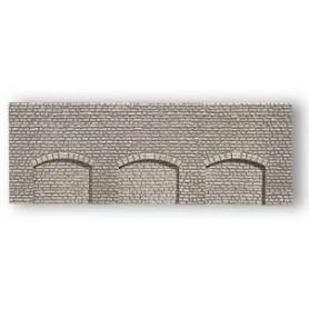 Noch 37950 Arkadplatta, grå, mått 21 x 7 cm