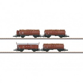 Märklin 86238 Vagnsset med 4 öppna godsvagnar Omm 52 typ DB