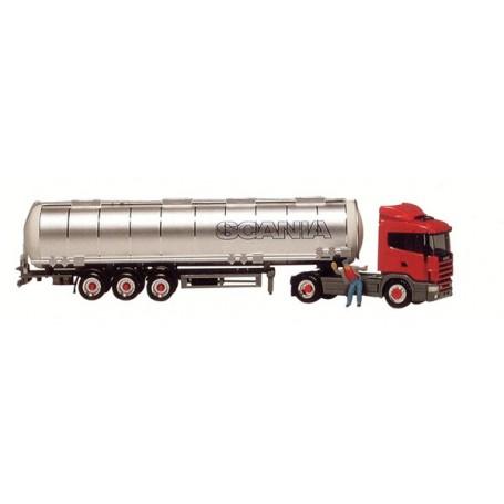 "Herpa 593284 Scania R124 Bil & Tanktrailer ""Scania"""