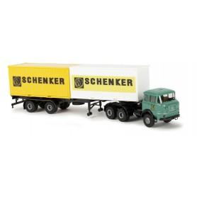 "Brekina 84124 Krupp SF 380 2 x 20ft Container ""Schenker"""