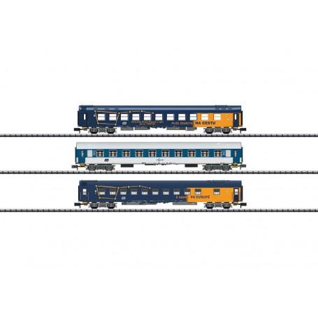Trix 15737 Vagnsset med 3 sovvagnar typ Ceské Drahy CD