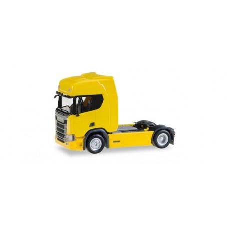 Herpa 307116 Scania CR 20 HD rigid tractor, yellow