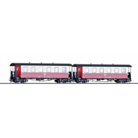 Tillig 03990 Vagnsset med 2 personvagnar typ DR KB
