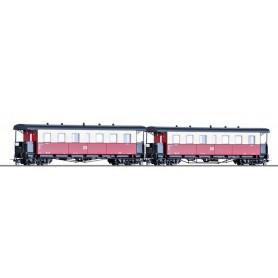 Tillig 03993 Vagnsset med 2 personvagnar typ DR KB4i