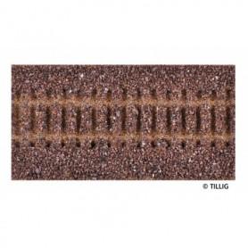 Tillig 86501 Rälsbädd, brun, för Tillig Rak, längd 114 mm
