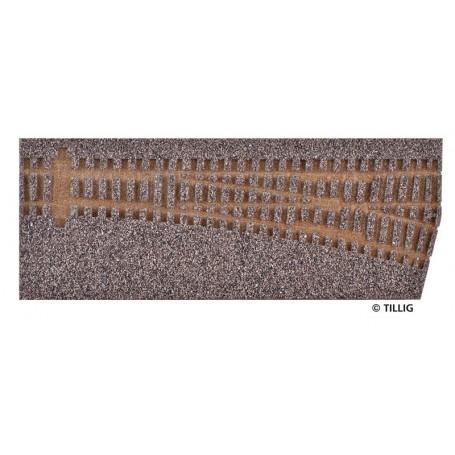 Tillig 86511 Rälsbädd, brun, för Tillig Växel EW1, höger