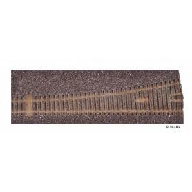 Tillig 86516 Rälsbädd, brun, för Tillig Växel EW3, vänster