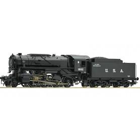 """Roco 72153 Ånglok med tender klass S 160 USATC """"US Zone Austria"""" med ljuddekoder"""