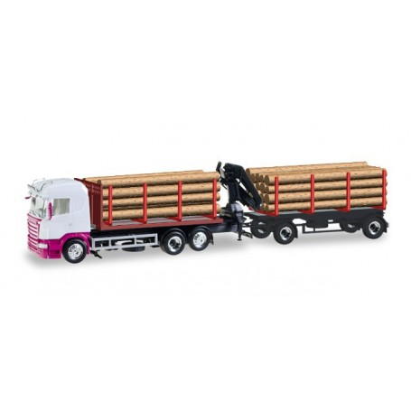 Herpa 307383 Scania R HL wood carrier, unprinted