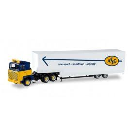 """Herpa 307321 Scania 141 jumbo box semitrailer """"ASG"""" (S)"""