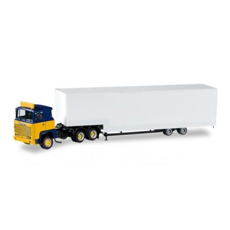Herpa 012973 Herpa Minikit Scania 141 jumbo box semitrailer, unprinted