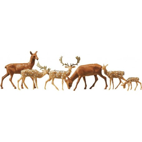 Faller 154007 Fallow deer + red deer, 12 pieces