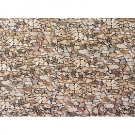 "Faller 222562 Murplatta ""Natural Stone"", mått 250 x 125 mm, papp"