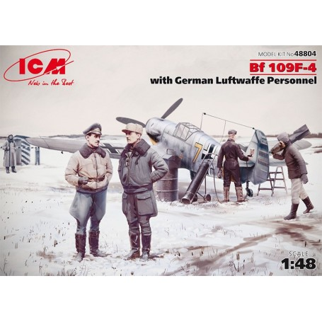 "ICM 48804 Flygplan Bf 109F-4 ""German Luftwaffe Personnel"""