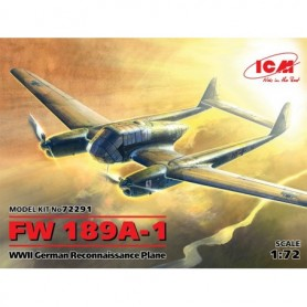 ICM 72291 Flygplan FW 189A-1, WWII German Reconnaissance Plane (100% new molds)