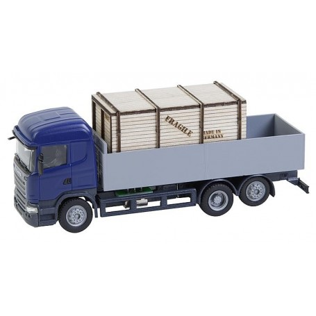 Faller 161597 Lorry Scania R 13 HL Platform with wooden crate (HERPA)