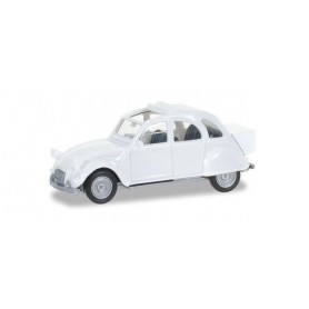 Herpa 027632.3 Citroen 2 CV mit Queue, pearl white