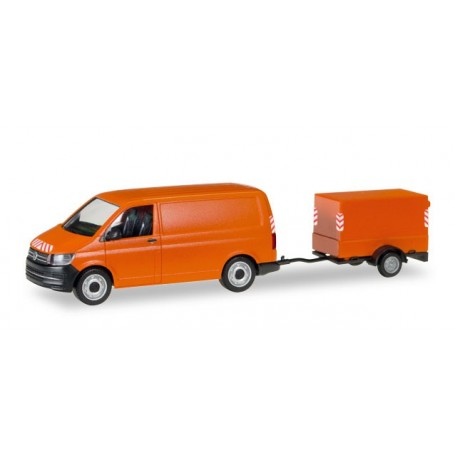 Herpa 093071 VW T6 with canvas-trailer