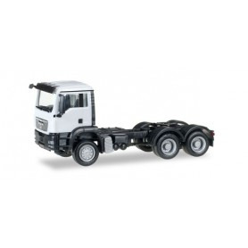 Herpa 158305.5 MAN TGS M all-wheel rigid tractor, white