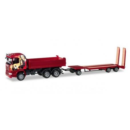 """Herpa 307239 Scania R HL dumper Meiller with TU3 """"Heidemann"""""""