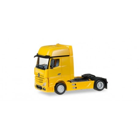 Herpa 159173.6 Mercedes-Benz Actros Gigaspace rigid tractor, traffic yellow
