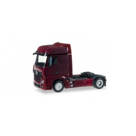 Herpa 159500.7 Mercedes-Benz Actros Bigspace rigid tractor, wine red
