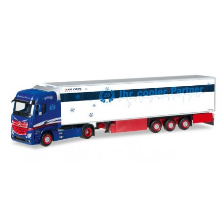 "Herpa 307178 Mercedes-Benz Actros Bigspace refrigerated box trailer ""Spedition Tasche"""