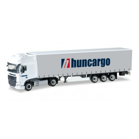 "Herpa 307154 DAF XF SSC Euro 6 with curtain canvas semitrailer ""Huncargo"" (HU)"
