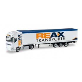 "Herpa 307260 DAF XF Euro 6 SSC walking fl oor semitrailer ""REAX"""
