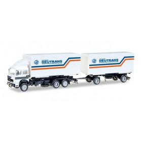Herpa 307161 Iveco interchargable box trailer ?Deutrans?