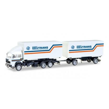 "Herpa 307161 Iveco interchargable box trailer ""Deutrans"""