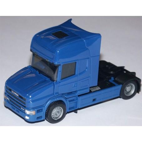 Herpa 580505 Dragbil Scania Hauber 164 Topline, 2-axlig, hytt blå, chassie svart