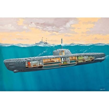 Revell 05078 Ubåt U-Boot Typ XXI med interiör