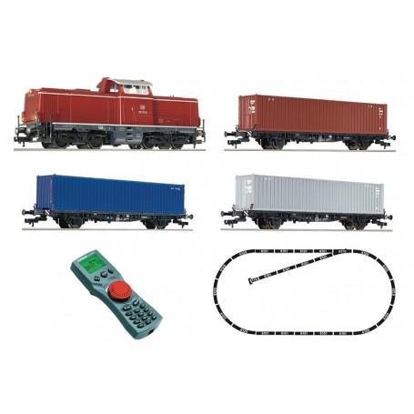 Fleischmann 631781 Digital starter set: Diesel locomotive class 212 with freight train, DB