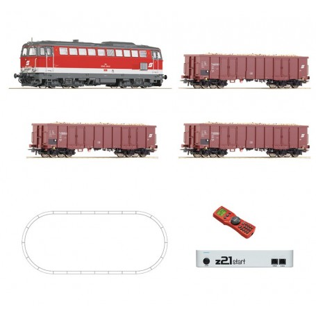 Roco 51291 Digital starter set z21: Diesel locomotive series 2043 and goods train that carries beets, ÖBB